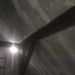 Trockenbauarbeiten im Dachgeschoß abgeschlossen. Verschraubt und Teilflächen gespachtelt.
